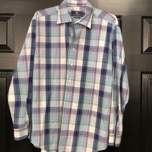 Vineyard Vines Whale Shirt Plaid Like New Size L